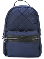 Moncler Quilted Backpack Blue