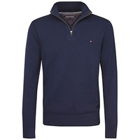 Tommy Hilfiger Atlantic Zip Jumper Navy Blazer