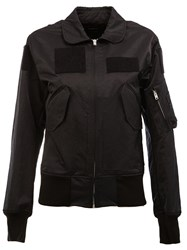 Yang Li Patch Detail Bomber Jacket Black