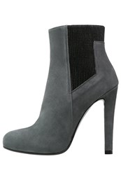 Mai Piu Senza High Heeled Ankle Boots Lava Grey