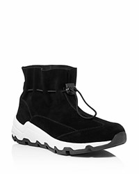 Opening Ceremony Cinched Suede Sneakers Black