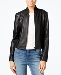 Armani Exchange Faux Leather Jacket Black