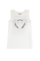 Current Elliott The Muscle Tee Printed Cotton Tank