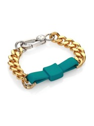Marc By Marc Jacobs Rubber Large Bow Tie Bracelet Wintergreen