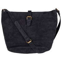 Fat Face Slouchy Suede Across Body Bag Navy