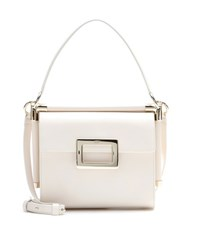 Roger Vivier Miss Viv' Carre Small Leather Shoulder Bag White