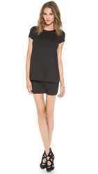 Susana Monaco Bri Layered Shift Dress Black