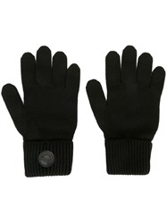 Dsquared2 Classic Ribbed Gloves Black