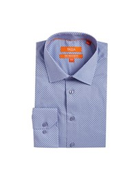 Tallia Orange Patterned Dress Shirt Powder