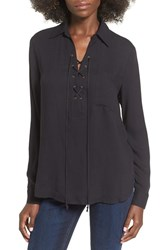 Wayf Women's 'Dean' Stripe Lace Up Popover Top