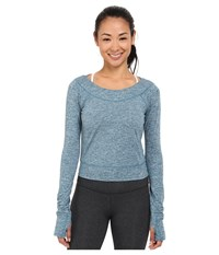 Asics Asx Lux Long Sleeve Top Ink Blue Women's Long Sleeve Pullover