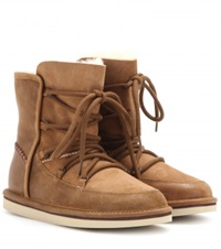 Ugg Lodge Shearling Lined Boots Brown