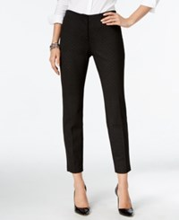 Alfani Petite Printed Comfort Waist Skinny Pants Only At Macy's Mini Diamonds Pewter