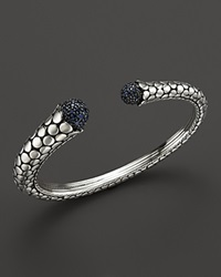 John Hardy Women's Dot Silver Lava Kick Cuff With Blue Sapphire Bloomingdale's Exclusive Blue Silver