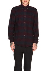Our Legacy Button Down Shirt In Red Checkered And Plaid