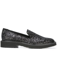 Giuseppe Zanotti Design Glitter Embellished Slippers Black