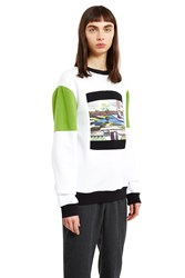 Opening Ceremony Space Agriculture Crewneck Sweatshirt White Multi