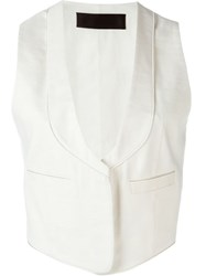Haider Ackermann Jetted Pocket Waistcoat White