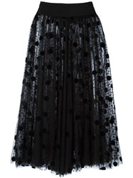 Gianluca Capannolo Semi Sheer Polka Dot Skirt Black