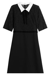 The Kooples Lace Dress With Contrast Collar Black