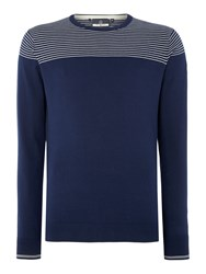 Duck And Cover Ramirez 2 Crew Neck Knitwear French Navy