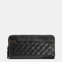 Coach Rip And Repair Accordion Wallet In Glovetanned Leather Black