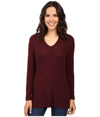 B Collection By Bobeau Sweater Hoodie Burgundy Women's Sweatshirt