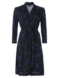 French Connection Dove Disco Tie Belt Dress Siberian Shadow