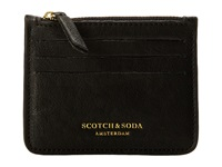 Scotch And Soda Leather Credit Card Holder With Zip Black Credit Card Wallet