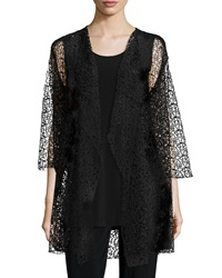 Caroline Rose 3 4 Sleeve Crochet Lace Jacket