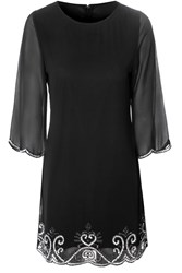 Alice And You Embellished Tunic Dress Black