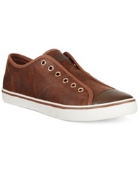 Guess Mickey2 Sneakers Men's Shoes Cognac