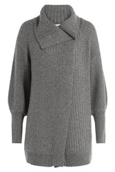 Claudia Schiffer Wool Cardigan With Cashmere Grey