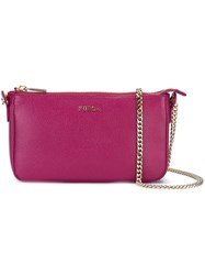 Furla Chain Strap Crossbody Bag Pink And Purple