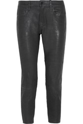 Frame Denim Le Garcon Stretch Leather Slim Boyfriend Pants