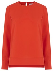 Warehouse Dipped Hem Top Bright Red