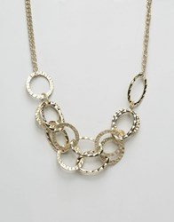 Oasis Chain Link Necklace Multi Gold