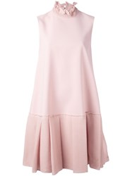 Roksanda Ilincic Pleated Mini Dress Pink Purple