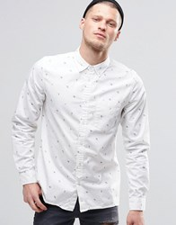 Element Moore All Over Print In Regular Fit In Shirt Bone White White