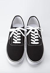 Forever 21 Classic Canvas Sneakers Black