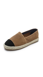 Jeffrey Campbell Atha Perforated Cap Toe Espadrilles Tan