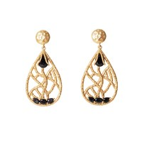 Christina Greene Madison Chandelier Earring Black