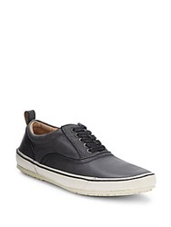 John Varvatos Leather Blend Oxford Sneakers Ash