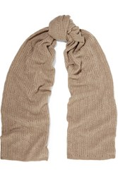 Magaschoni Open Knit Cashmere Scarf Sand