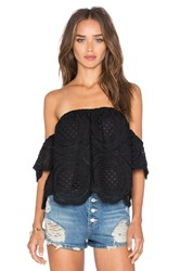 Vava By Joy Han Laila Off Shoulder Top Black