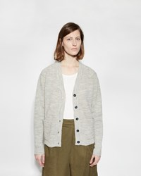 Mhl By Margaret Howell Pocket Cardigan Silver