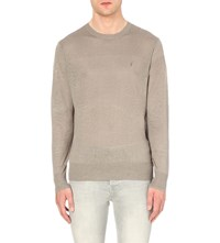 Allsaints Opus Semi Sheer Linen Jumper Steeple Grey