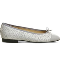 Office Rosa High Snake Embossed Leather Pumps Grey Leather