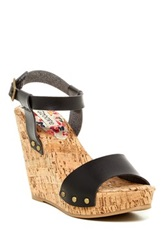 Groove Adriana Wedge Sandal Black
