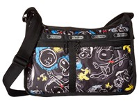 Le Sport Sac Deluxe Everyday Bag Chalkboard Snoopy Cross Body Handbags Brown